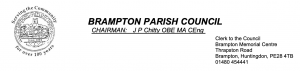 Agenda for Brampton Parish Council's Finance Committee will be held Virtually on Wed 8 July at 5.00 pm